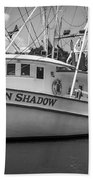 Moon Shadow Working Boat Beach Towel
