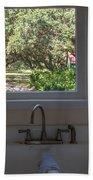 Window Over The Sink Beach Towel