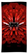 Test Red Abstract Flower 3 Beach Towel