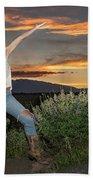Tetom Sunset 1 Beach Towel