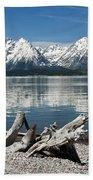 Teton Range Reflections Beach Towel