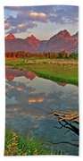 Teton Reflection Beach Towel