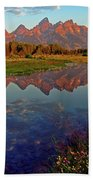 Teton Wildflowers Beach Towel