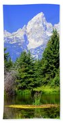 Tetons 3 Beach Towel