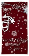 Texas Am Aggies Christmas Card Beach Towel