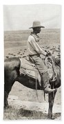 Texas: Cowboy, C1908 Beach Towel