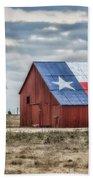 Texas Flag Barn #1 Beach Towel