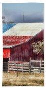 Texas Flag Barn #6 Beach Sheet