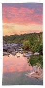 Texas Hill Country Morning Along The Pedernales 2 Beach Towel