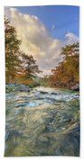 Texas Hill Country Pedernales Sunrise 1014-3 Beach Towel