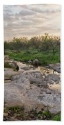 Texas Hill Country Sunrise - Llano Tx Beach Towel