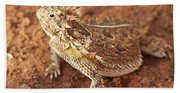 Texas Horned Lizard Beach Towel