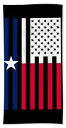 Texas State Flag Graphic Usa Styling Beach Towel