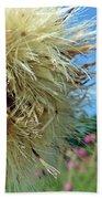 Texas Thistle 006 Beach Towel
