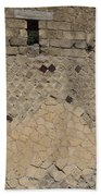 Textural Antiquities Herculaneum Wall One Beach Towel