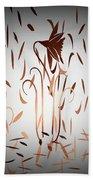 Texture Drama Dancing Flowers Beach Towel