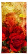 Texture Roses Beach Towel