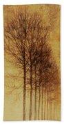 Textured Eerie Trees Beach Towel