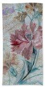 Textured Florals No.1 Beach Sheet