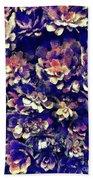 Textured Garden Succulents Beach Sheet