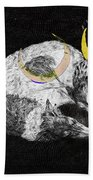 Textured Night For Borzoi Dogs Beach Towel
