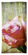 Textured Pink Red Rose Beach Towel