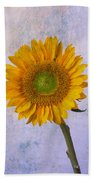 Textured Sunflower Beach Towel