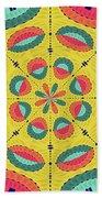 Textured Tropical Mandala Beach Towel
