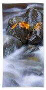 Textures Of Autumn Beach Towel