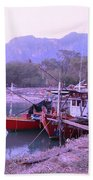 Thai Fishing Boats 05 Beach Towel