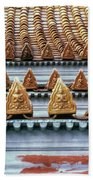 Thai Temple Roof Beach Towel