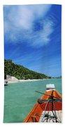 Thailand Boat Beach Towel