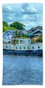 Thames Tug Boat Beach Towel