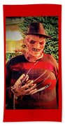 Things Can Get Ugly Fast On Halloween  Beach Towel