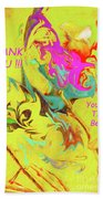Thank You Card Abstract Lilac Breasted Roller Beach Towel