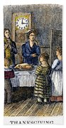 Thanksgiving, 1853 Beach Towel