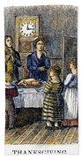Thanksgiving, 1853 Beach Towel