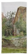 Thatched Cottages And Cottage Gardens Beach Towel by John Fulleylove