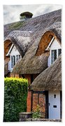 Thatched Cottages In Chawton 2 Beach Towel