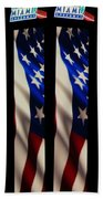The Fourth At The Speedway Beach Towel