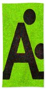 The A With Style Lime - Pa Beach Towel