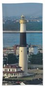 The Absecon Lighthouse In Atlantic City New Jersey Beach Towel
