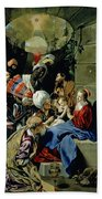 The Adoration Of The Kings Beach Towel by Fray Juan Batista Maino