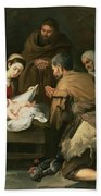 The Adoration Of The Shepherds Beach Towel by Bartolome Esteban Murillo