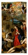The Adoration Of The Shepherds Beach Sheet