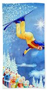 The Aerial Skier 18 Beach Towel