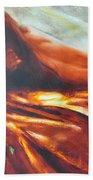 The Amber Speck Of Light Beach Towel by Sergey Ignatenko