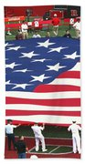 The American Flag Beach Towel by Allen Beatty