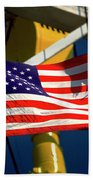 Tribute To The American Flag Oil Industry Beach Towel