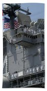 The Amphibious Assault Ship Uss Boxer Beach Towel by Stocktrek Images